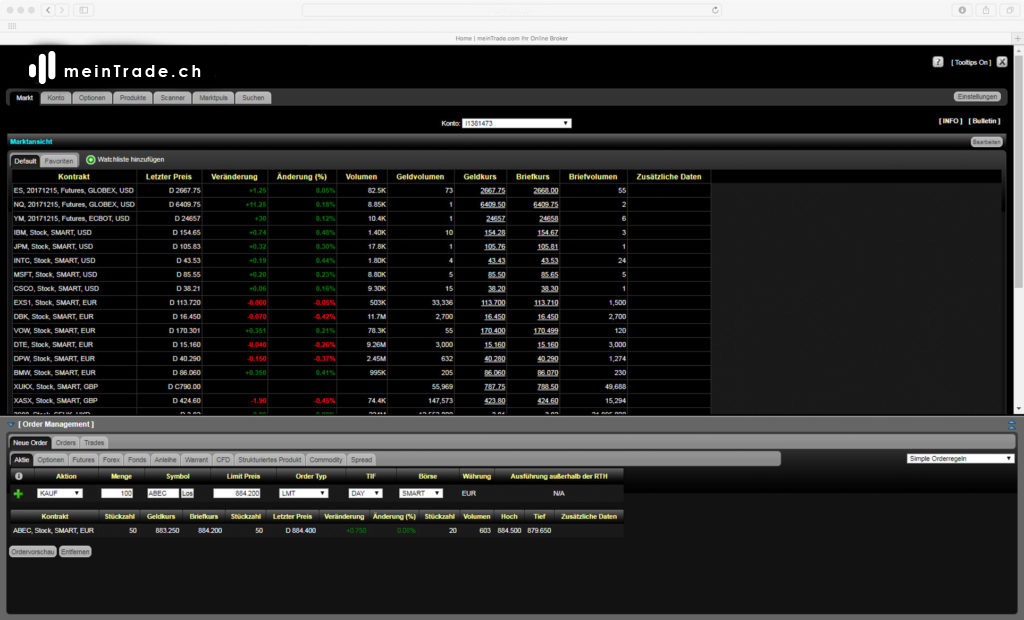 Webbasiertes Traden Ihre Trading Plattform