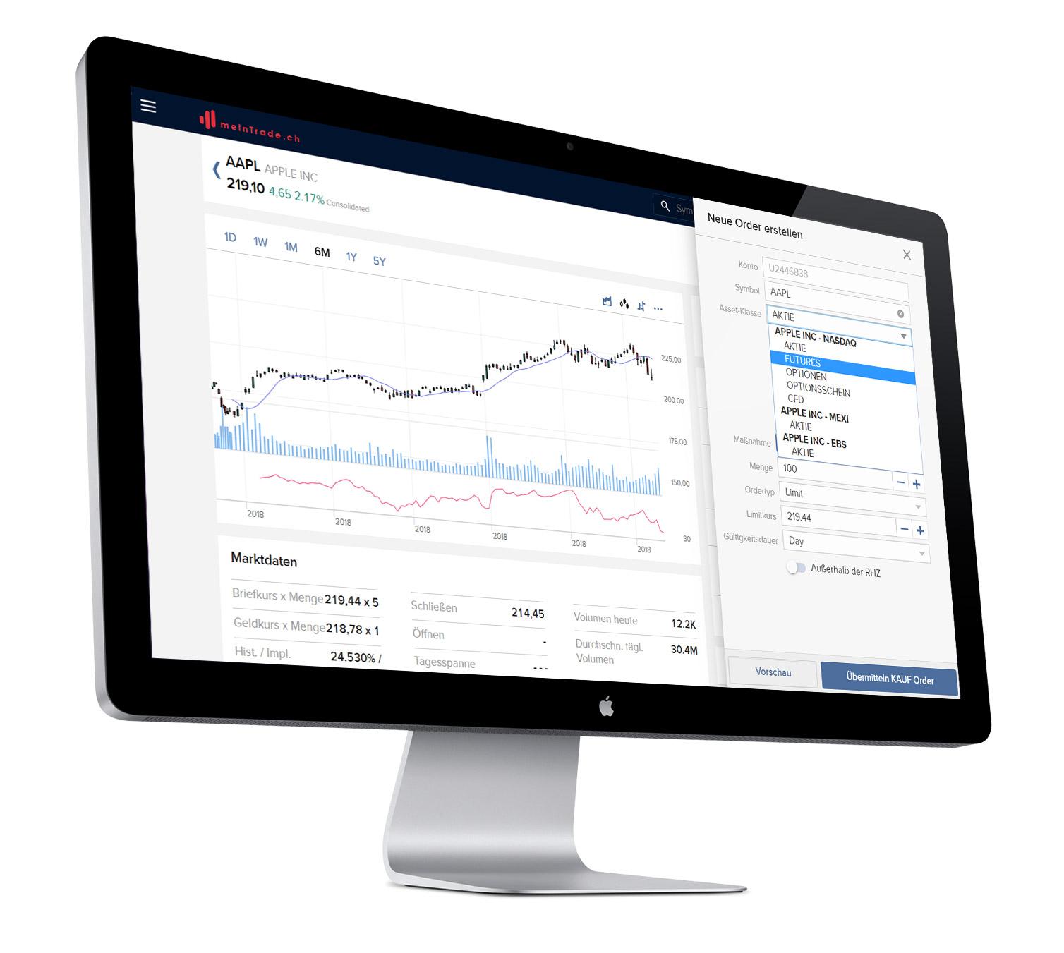 Online mit dem Client Portal handeln